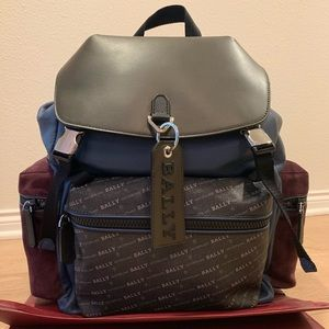 Bally Crew Blue Leather Backpack - Brand New